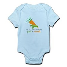 We Go Together Like Peas & Carrots Body Suit