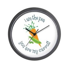 I Am The Pea You Are My Carrot! Wall Clock