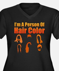 Person Of Hair Color Plus Size T-Shirt