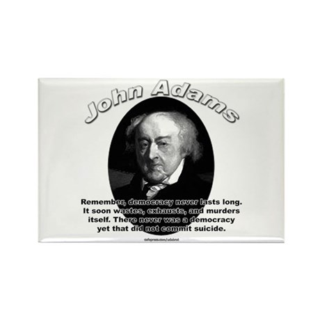 John Adams 02 Rectangle Magnet