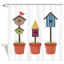 Bird House Garden Shower Curtain