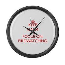 Cute Bird magazine Large Wall Clock