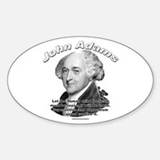 John Adams 03 Oval Decal