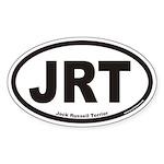 Jack Russell Terrier JRT Euro Oval Sticker