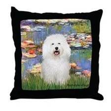Lilies (#2) & Bolognese Throw Pillow