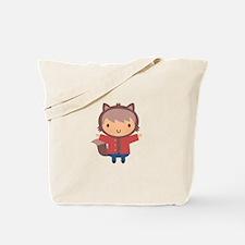 Cute Little Werewolf Boy For Halloween Tote Bag