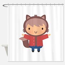 Cute Little Werewolf Boy For Halloween Shower Curt
