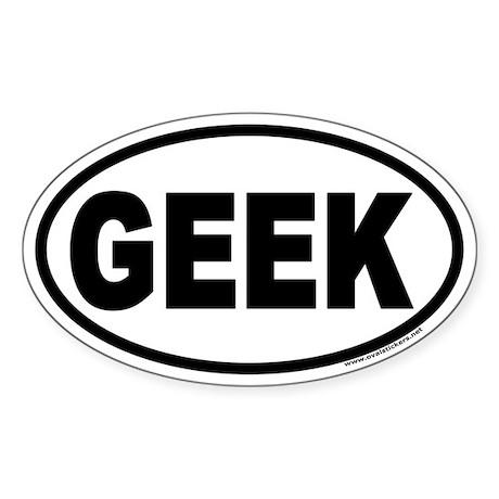 GEEK Oval Sticker
