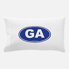 Georgia GA Euro Oval Pillow Case