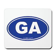 Georgia GA Euro Oval Mousepad