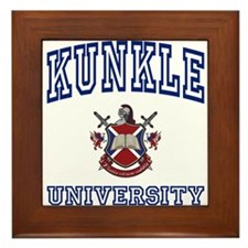 KUNKLE University Framed Tile