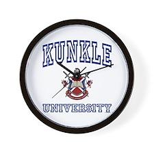 KUNKLE University Wall Clock