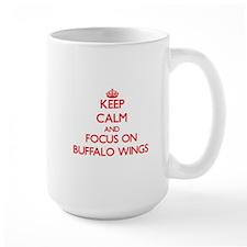 Keep Calm and focus on Buffalo Wings Mugs