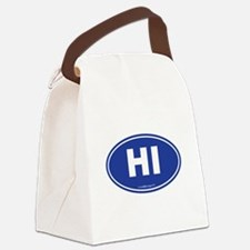 Hawaii HI Euro Oval Canvas Lunch Bag
