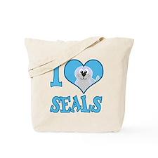 I Love (Heart) Seals Tote Bag
