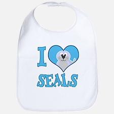 I Love (Heart) Seals Bib
