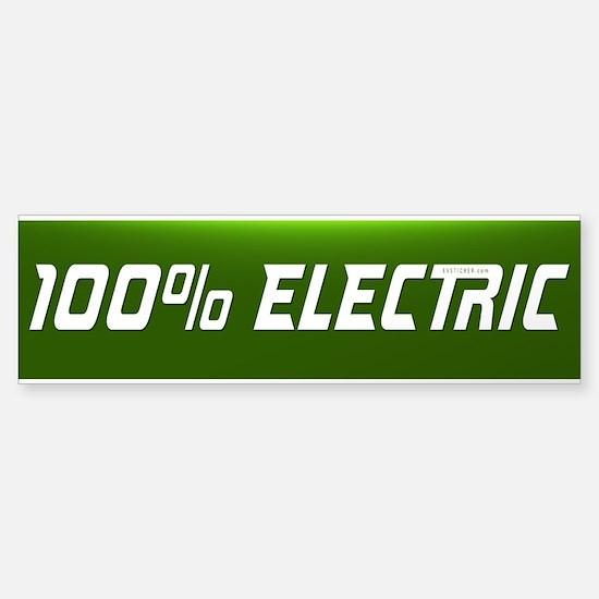 Electric Vehicle Bumper Sticker 100% By Evsticker