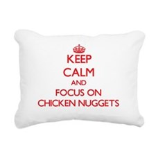 Funny Keep calm and carry on gun Rectangular Canvas Pillow