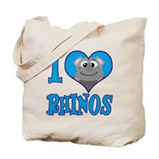 I Love (Heart) Rhinos Tote Bag