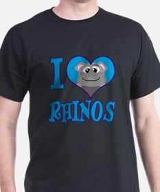 I Love (Heart) Rhinos T-Shirt