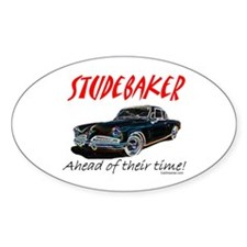 Studebaker-Ahead of Their Time- Oval Bumper Stickers