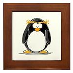 Macaroni Penguin Framed Tile
