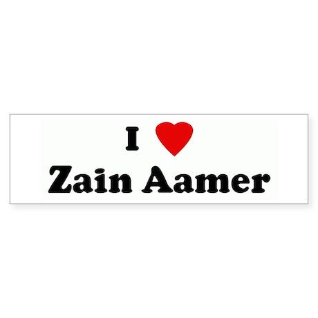 I Love Zain Aamer Bumper Sticker