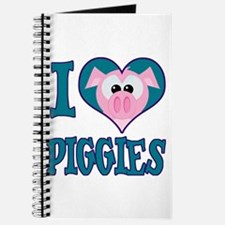 I Love (Heart) Piggies (Pigs) Journal