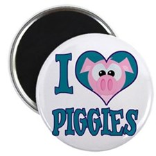 I Love (Heart) Piggies (Pigs) Magnet