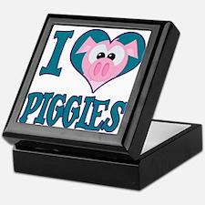 I Love (Heart) Piggies (Pigs) Keepsake Box