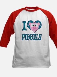 I Love (Heart) Piggies (Pigs) Tee