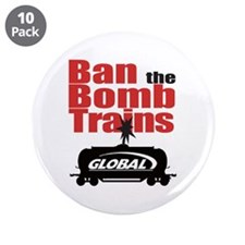 "Ban The Bomb Trains 3.5"" Button (10 Pack)"