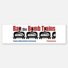 Ban The Bomb Trains Bumper Bumper Bumper Sticker