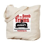 Ban The Bomb Trains Tote Bag