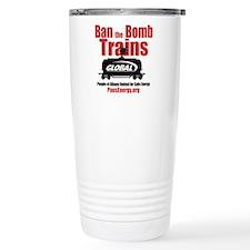 Ban The Bomb Trains Travel Coffee Mug