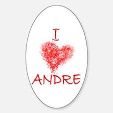 I Heart Andre Tennis Oval Decal