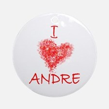 I Heart Andre Tennis Ornament (Round)