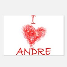 I Heart Andre Tennis Postcards (Package of 8)