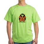 Red Hawaiian Penguin Green T-Shirt
