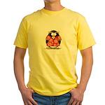 Red Hawaiian Penguin Yellow T-Shirt
