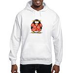 Red Hawaiian Penguin Hooded Sweatshirt