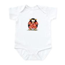 Red Hawaiian Penguin Infant Bodysuit