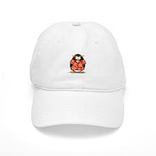 Red Hawaiian Penguin Baseball Cap