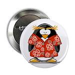 Red Hawaiian Penguin Button