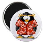 Red Hawaiian Penguin Magnet