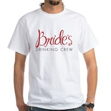 Brides Drinking Crew -Bachelorette Party Red T-Shi