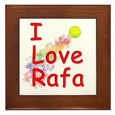 I Love Rafa Framed Tile
