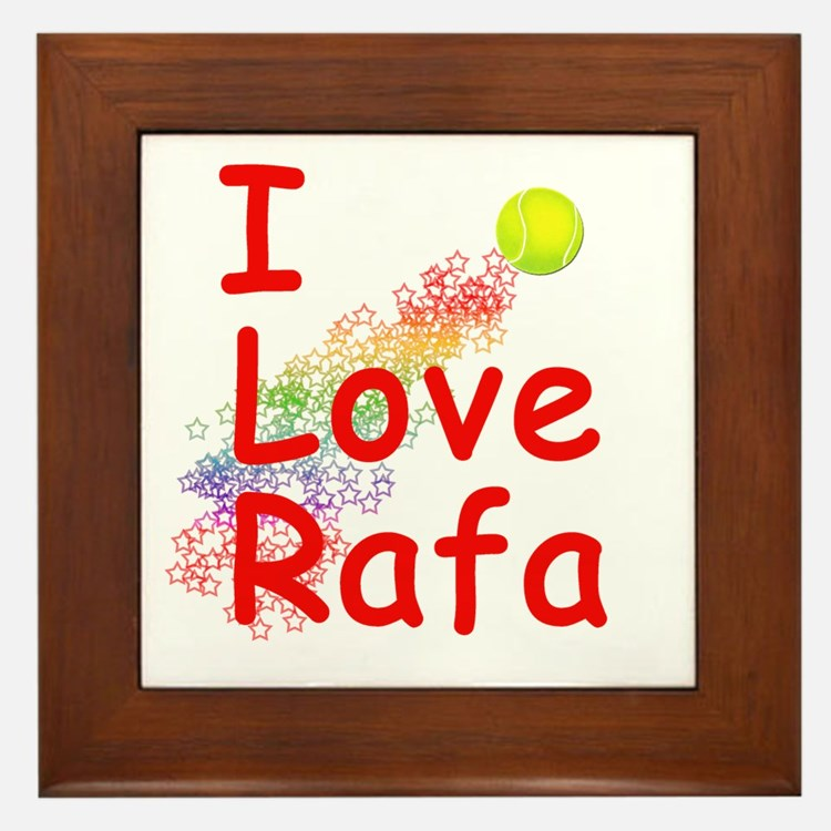 I Love Rafa Framed Tile