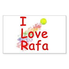 I Love Rafa Rectangle Decal
