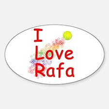 I Love Rafa Oval Decal